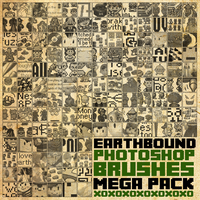 Earthbound Mega Brush Pack [2013] by radroachmeat