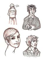 People Sketches by Sheana