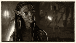 Avatar Neytiri black and white by Prowlerfromaf