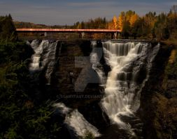 Kakabeka Falls Night by ScaryFast