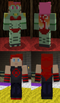 Legion Princess + Aakashi - Minecraft Skins by Nero-The-Lime