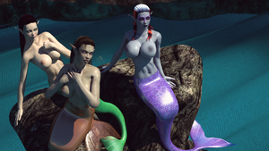 Three Busty Mermaids by gazukull