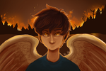 This angel's on fire by Vintage009