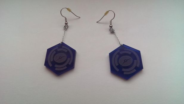 Android:Netrunner Click Tracker Earrings by ThisIsIsi