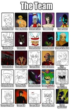 Great OC Death battle Team Roster- /Team Drunk/ by Una1Stian