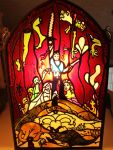 Army of Darkness Stained Glass Window Autographed by DevicTemple