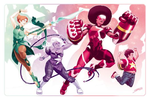 The Crystal Gems by DavidFernandezArt
