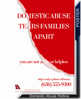 Domestic Abuse Poster by ShawnBaybo
