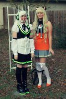 Me and My Friend Cosplaying as RingSuzune and SeeU by usuiandmisaki