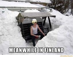 Meanwhile In Finland... by The-White-Death