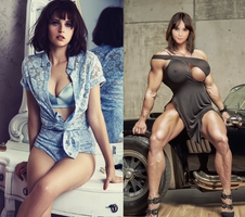 Felicity Jones: Rogue Muscle (I) by CanaryGold