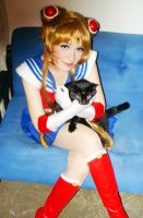 Sailor Moon and Luna Cosplay by SailorMappy