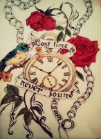 Lost time is never found again by tattoo-love-forever