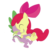 Spike and Applebloom by MPL52293
