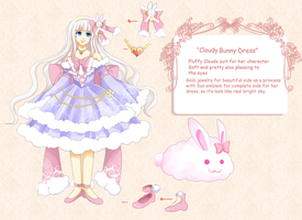Cloudy Bunny Dress by KurosakiSasori-kun