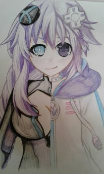 Neptune/ Purple heart traditional by SoganaxSaeki