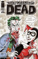 Walking Dead Sketch Cover - Joker and Harley Quinn by calslayton