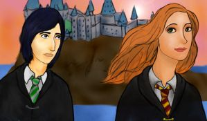 Lily and Snape by pieMASSACRE