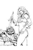 Red Sonja by ComicInks