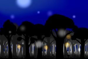 Mystic Forest Background by Shelilla