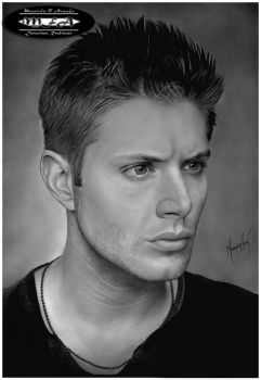 Realistic Drawings - Jensen Ackles by mauriciofortunato