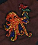 Beaded embroidery octopus by apartment42b