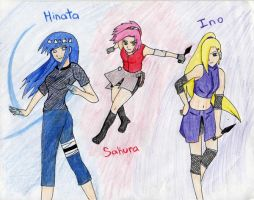 shippuden girls by twinLtwinV