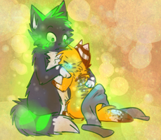 . : snuggles : . by Freckled-Kat