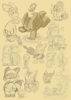Character doodles by LeniProduction