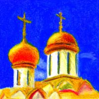 Bright golden domes by MadHatterAndTea