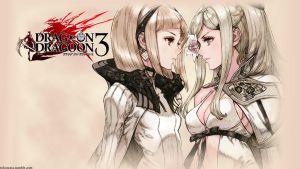 Drakengard 3 One and Zero Face-Off Wallpaper by HexactiNoZio