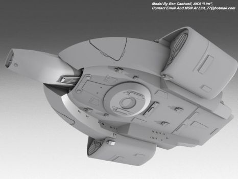USS Defiant Ventral Side by lint77
