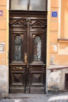 Wooden Door by NHuval-stock
