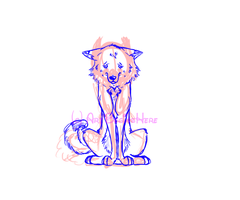 Flame the Dog- Sketch by ArtBeginsHere