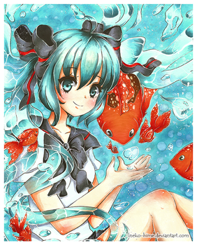 .Bottle Miku. by lNeko-Hime
