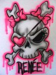 Girly Pirate Skull by TonyTempest