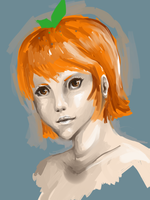 Orange Girl by Szashaa