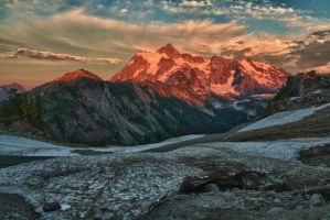 Mount Shuksan at sunset 1 by arnaudperret