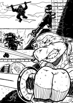 Teenage Mutant Ninja Turtles PinUp INKS by BouncieD