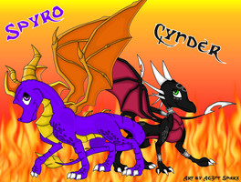 Cynder and Spyro.. by Ag3nt-Sparx