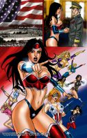 American Icon and all the 9 Superheroines by Superheroine-Art