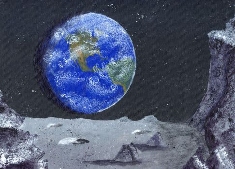 A Lunar View Of The Earth by ThatDarkholderGuy