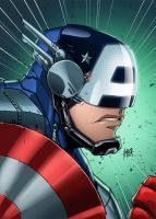 Mech Captain America by RecklessHero