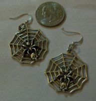 SpiderWeb EarRings by Prepare-Your-Bladder