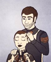 Mass Effect: Trust , Jack and Shepard by sqbr