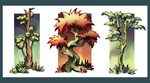 Tree Triptych by myshrinkingviolet