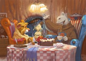 at supper by Monkill