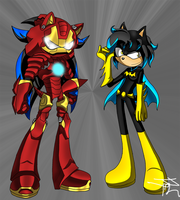 Gift: IronDiesel and BatCharm by Jaggerjo12