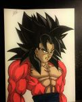 Goku SSJ4 colored by WatersDBZArt