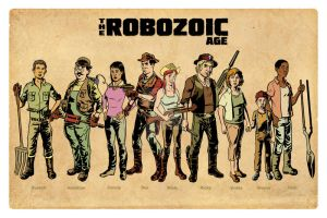 Character designs from The Robozoic Age by TonyDennison